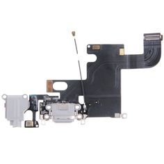 [$4.47] iPartsBuy Charging Port Dock Connector Flex Cable Replacement for iPhone 6(Grey)