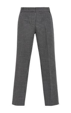 Gingham Straight Legged Pants by TIBI Now Available on Moda Operandi