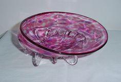 Spectacular ABALONE Shell SCULPTURE Glass Bowl JUDITH KONESNI Tidal Wave Studio