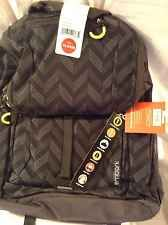 EMBARK CHEVERON PADDED BACKPACK,BLK/GREY,LAPTOP,BOOKS