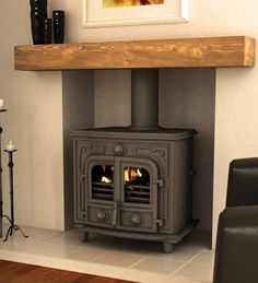 Hillandale Hercules 12B Wood Burning / Multi Fuel Boiler Stove : Fireplaces & accessories by Direct Stoves