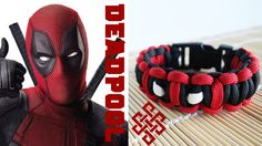 Deadpool Themed Solomon Knot Bracelet Tutorial