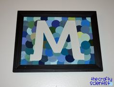 Monogram with paintchips