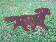 Cavalier King Charles Spaniel /Garden Art  via Etsy.
