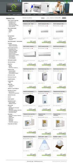 Climaencasa.com será tu #webshop de referencia si estás buscando el mejor sistema de #climatización para tu casa o oficina. La #tiendaonline tiene muchos productos, pero todos ellos se presentan al consumidor de una manera clara, ordenada y atractiva.