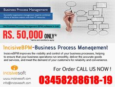 IncisiveBPM - #BusinessProcessManagement (Process Maker)  Get Business Process Management (BPM) software in Just Rs. 50,000 IncisiveBPM improves the visibility and control of your business processes, helping to ensure that your business operations run smoothly, deliver the accurate goods and services, and meet the demand of your customers for reliability and convenience. For Order Call Us Now: +92.3458288618-19 Or  Email : info@incisivesoft.com BusinessManagement
