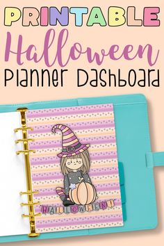 Kawaii planner dashboard to decorate your planner for Halloween. Printables are great because you can print them out at home, no matter what else is going on in the world. Meal Planner Printable, Planner Stickers, Printables, Kawaii Planner, Artisan & Artist, Page Decoration, Planner Dashboard, Home Planner, Best Planners