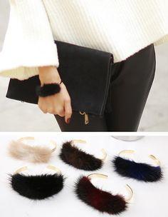 Styleonme_No. 34377 #bracelet #fur