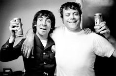 One of history's great drinking teams: Keith Moon and Oliver Reed. Cheers!