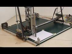 CNC Maschine aus Kugellagern und Baumarkt-Materialien - YouTube