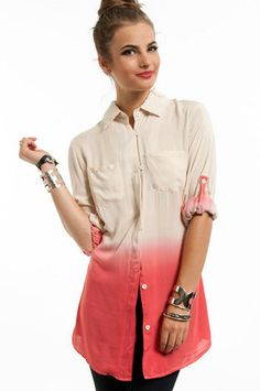 Painters Button Up Blouse $50   http://www.tobi.com/product/44188-piko-front-and-back-v-neck-top?color_id=56105