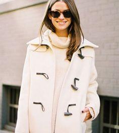 {holiday style inspiration : warm winter whites & valentino rockstuds}