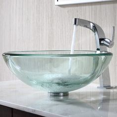 Buy the Kraus Chrome Direct. Shop for the Kraus Chrome Bathroom Combo - Clear Glass Vessel Bathroom Sink with Vessel Faucet, Pop-Up Drain, and Mounting Ring and save. Bathroom Sink Bowls, Bowl Sink, Bathroom Faucets, Gothic Home, Lavatory Sink, Glass Vessel Sinks, Gaudi, Handmade Home, Glass Sink