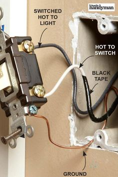 27 Must-Know Tips for Wiring Switches and Outlets Yourself The Effective Pictures We Offer You About home maintenance company A quality picture can tell you many things. You can find the most beautifu Basic Electrical Wiring, Electrical Code, Electrical Projects, Electrical Outlets, 3 Way Switch Wiring, Wire Switch, Diy Projects Cans, House Wiring, Home Fix
