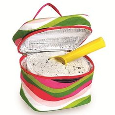 Picnic Plus PSM-726WW Ice Cream Travel Cooler in Wavy Watermelon