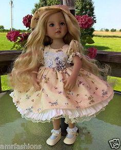 Tea Time dress set for dianna effner little darling dolls