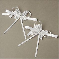 Accent Bows - Radiant Butterfly - White