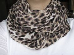 Cheetah Print Infinity Scarf, I wanted one for christmas..