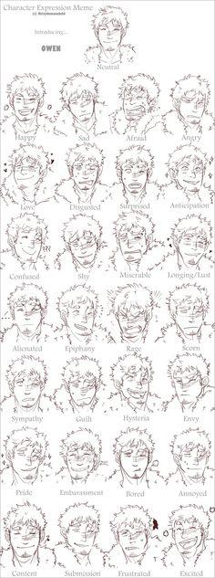 O Caráter Expressões Meme por MooseFroos no deviantART