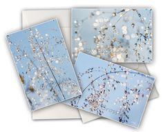 """3   jolies cartes doubles  """"cristal """" de COULEURS DE NATURE sur DaWanda.com"""