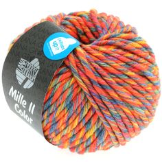 MILLE II color 801-orange/yellow/blue/lilac mix