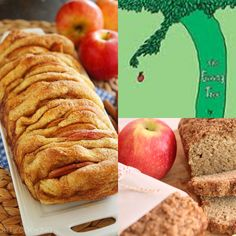 Book themed baby shower brunch menu: the giving tree, apple bread