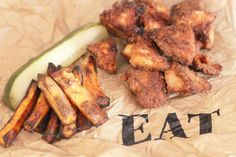 paleo chicken nuggets with sweet potato fries