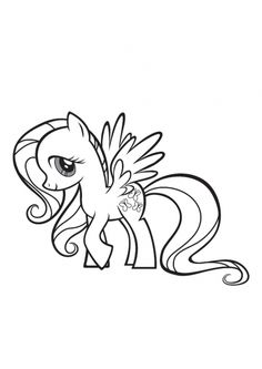 My Little Pony Fluttershy Coloring Pages Printable And Book To Print For Free Find More Online Kids Adults Of