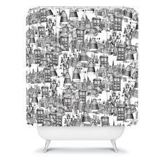 Deny Designs Sharon Turner Ikat Doodle Shower Curtain 69 x 72