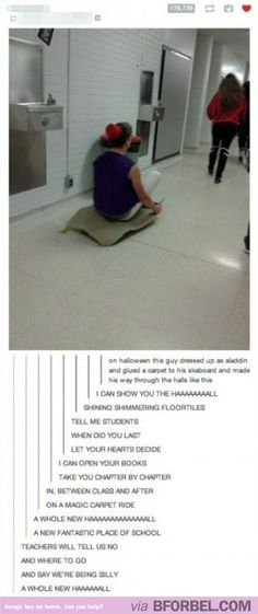 Aladdin In College… admit it you sang this, didn't you?