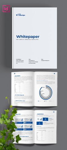 A white paper is an in-depth information report that explains a complex concept or provides a persuasive solution to a problem. Indesign Templates, Adobe Indesign, Paper Templates, Pub Design, Book Design, Lettering Design, Hand Lettering, Page Layout Design, White Paper
