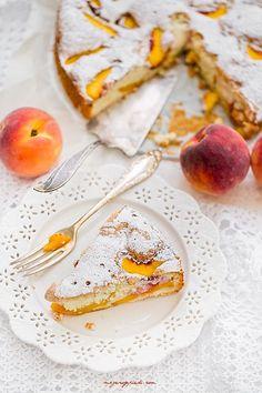 Moje Wypieki | Torta Margherita z brzoskwiniami