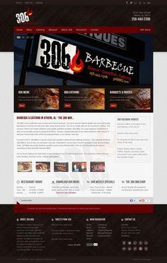 Custom #Joomla Template & #webdesign for 306 Barbecue | BBQ in Athens, Alabama.