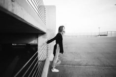 girl, woman, jeans, shoes, sneakers, fashion, long hair, brunette, parking lot, city, lifestyle, black and white, model