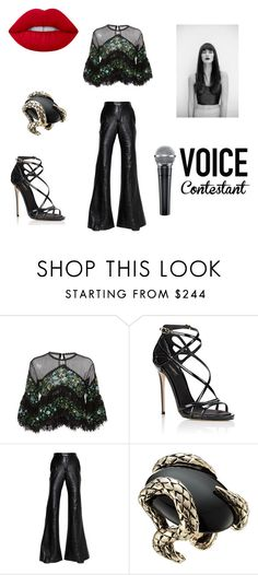 """""""RC"""" by iremissy on Polyvore featuring moda, Costarellos, Dolce&Gabbana, E L L E R Y, Roberto Cavalli, Lime Crime, thevoice ve YahooView"""