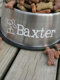 Personalized dog bowl tutorial!
