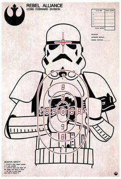 Stormtrooper shooting target.