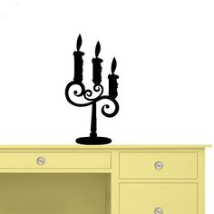 Housewares Vinyl Decal Cute Candlestick Candelabrum Candle Home Wall Art Decor Removable Stylish Sticker Mural Unique Design for Any Room Decal House http://www.amazon.com/dp/B00D1RMEFI/ref=cm_sw_r_pi_dp_PYTTtb0PVB782SH7