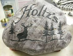 Sand Blasted Stone Signs | OUR PHOTO GALLERY  (This deer)