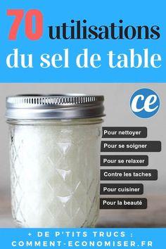 70 utilisations et astuces avec du sel de table