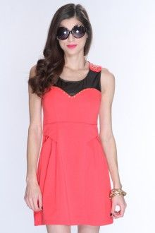 Coral AMIclubwear style party dresses for less