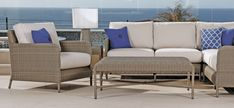 Thos. Baker Premium Outdoor Wicker from the Melrose Collection