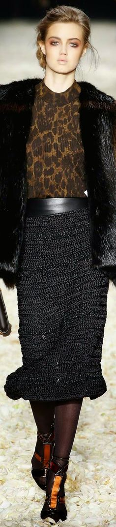 SHE'S A WILD  ONE....LOLO Tom Ford Fall 2015 RTW...... BELLA DONNA
