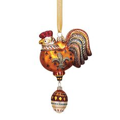 Reed  Barton Three French Hens Blown Glass Christmas Ornament *** Check out the image by visiting the link. #XmasSeasonalDcor