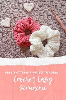 Kids Crochet Hats Free Pattern, Crochet Kids Hats, Free Crochet, Crochet Patterns, Crochet Hairband, Crochet Hair Accessories, Simple Crochet, Crochet Hook Sizes, Crochet Videos