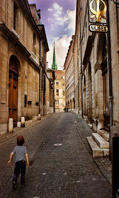 Old Town, Geneva, Switzerland  We segwayed through the streets of Geneva just one week ago. It was beautiful! April 2013