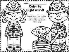 Fire Safety Activities, Kindergarten Math Review for