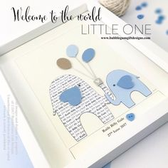 Aww I love elephants and it seems you do too 🐘🐘🐘 perfect new baby boy or christening gift, all personalised and handmade for that special bundle of joy