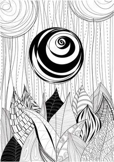 ..flower.. original illustration by Anna Dyczka