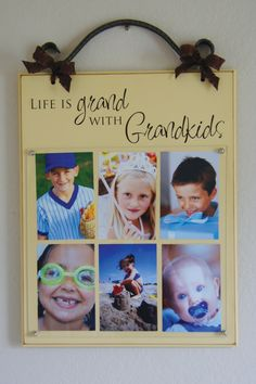 GRANDKIDS PICTURE FRAME  Life is Grand with Grandkids  by meme100, $65.00